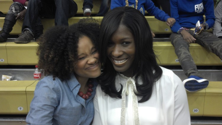 MEANTIME, MY LINE SISTER & I JUST GOOFING ALL DURING THE GAME