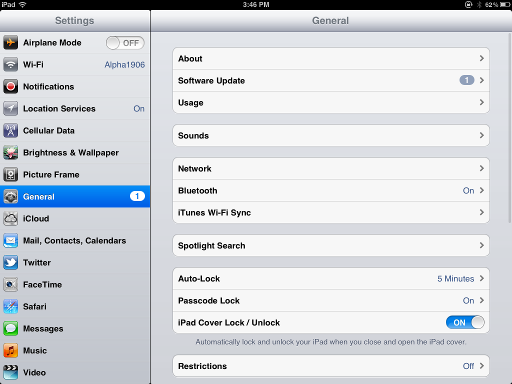 GO TO GENERAL SETTINGS THAT'S HIGHLIGHTED ABOVE