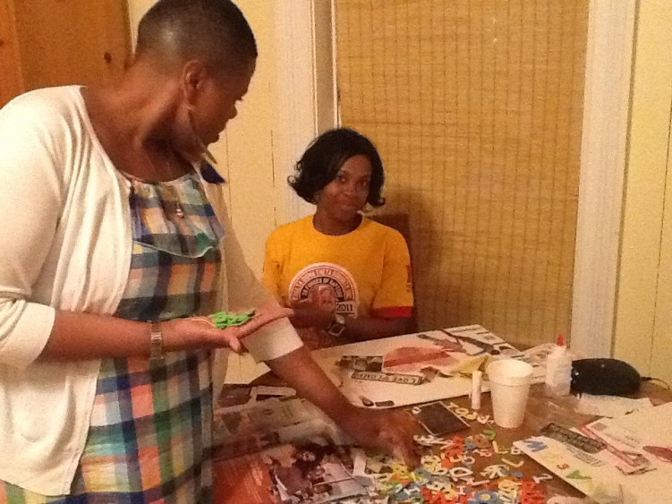 Vision Boards at Girl's Weekend