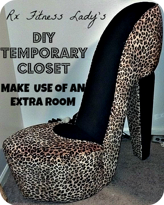 DIY Temporary Closet  - Make Use of An Extra Room