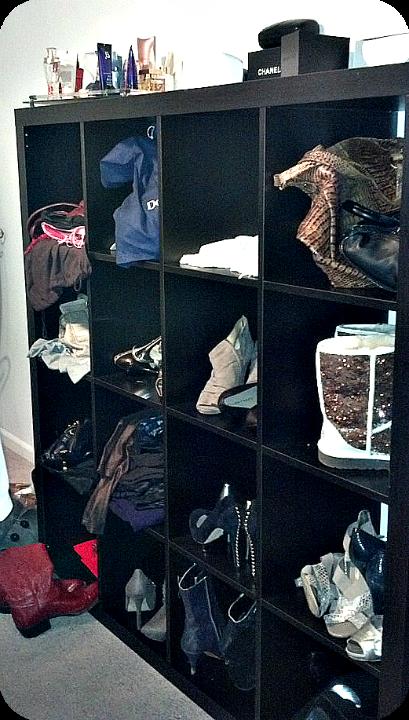 DIY Temporay Closet - IKEA Shelf