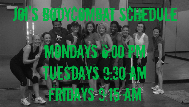 Joi's BODYCOMBAT Schedule