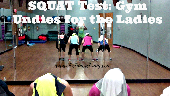 SQUAT Test Gym Undies for the Ladies - Rx Fitness Lady