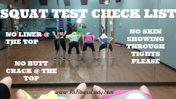 Squat Test Check List - Rx Fitness Lady