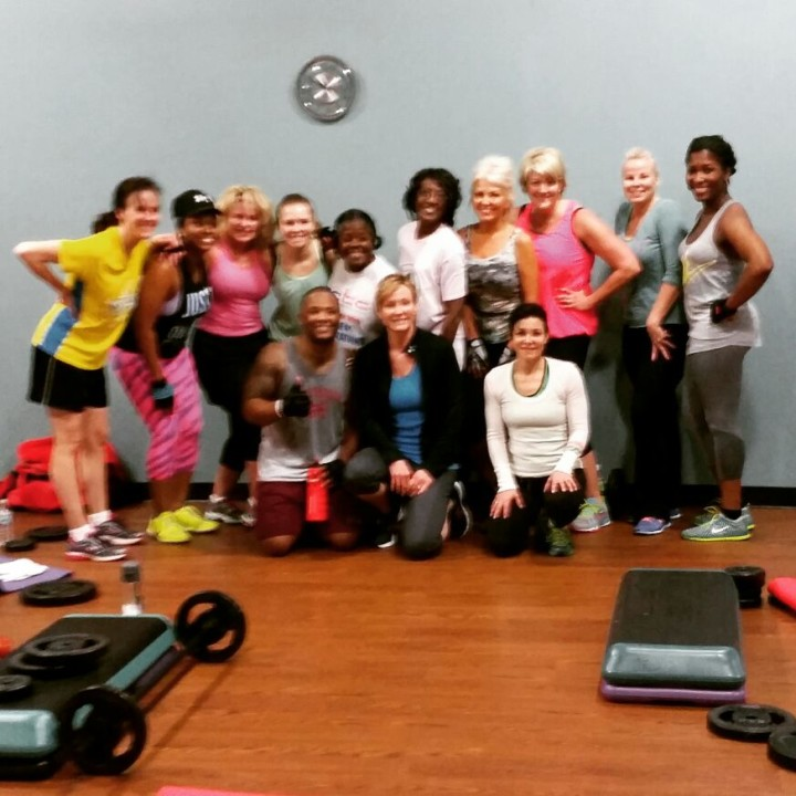 Older Participants of Les Mills Bodypump Original Barbell Weight Class
