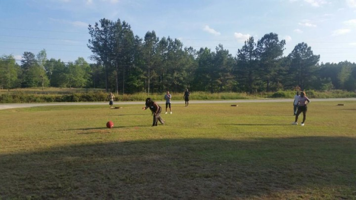 Family Reunion Kickball Game