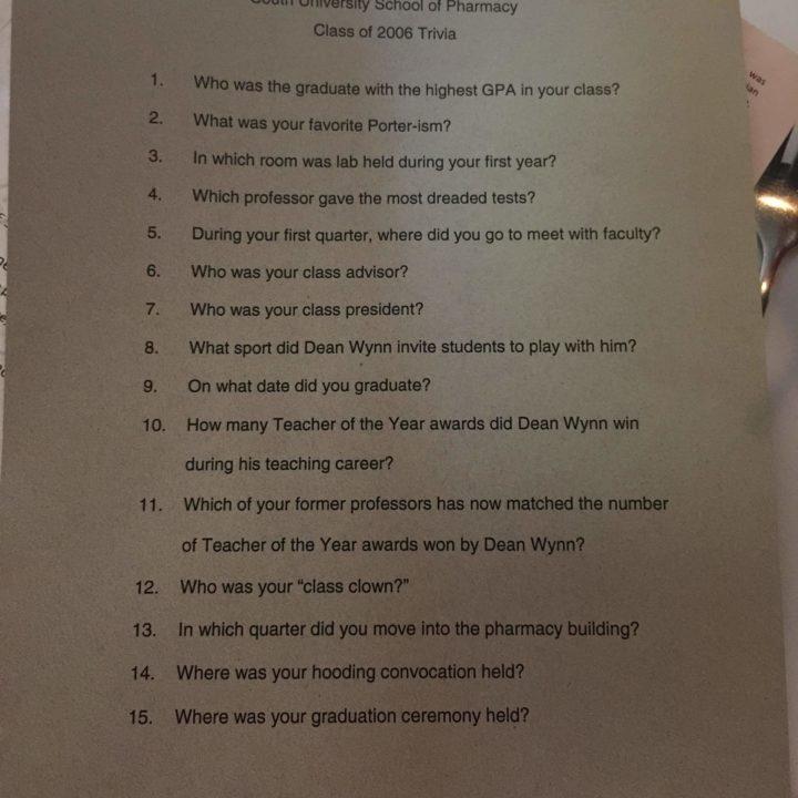 Class Trivia